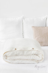 MagicLinen Queen Duvet Cover - Ivory