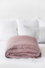 MagicLinen Queen Duvet Cover - Woodrose