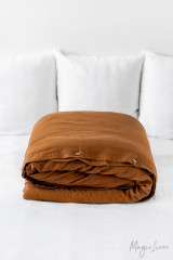 MagicLinen Queen Duvet Cover - Cinnamon