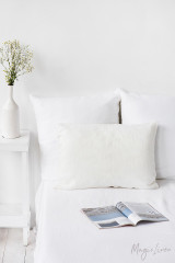 MagicLinen Queen Sized Pillowcase Cover - Ivory