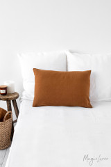 MagicLinen Queen Sized Pillowcase Cover - Cinnamon