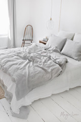 MagicLinen Queen Sized Pillowcase Cover - Light Grey