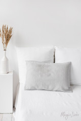 MagicLinen Queen Sized Pillowcase Cover - Light Grey