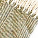 Merino Lambswool Supersoft Blanket - Landscape Herringbone (Olive)