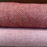 Merino Lambswool Supersoft Blanket - Tabasco Herringbone (Rust Red)