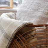 Alpaca and Merino Lambswool Blanket - White Pearl Window