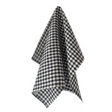 Fog Linen Tea Towels - Navy White Check