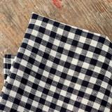 Fog Linen Tea Towels - Navy White Check