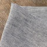 Fog Linen Tea Towel - Navy Fine Stripes