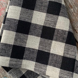 Fog Linen Thick Kitchen Cloth - Black Natural Check