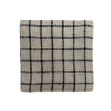 Fog Linen Coasters Set of 6 - Ivory with Navy Check