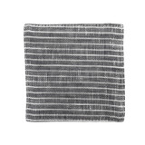 Fog Linen Coasters Set of 6 - Grey with White Stripes