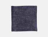 Fog Linen Coasters - Set of 6 - Denim