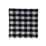 Fog Linen Coasters Set of 6 - Navy White Check