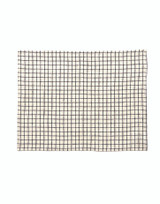 Fog Linen Placemat - Ivory with Navy Check