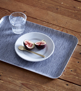 Fog Linen Tray - Grey with White Stripe