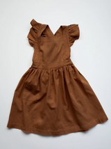 The Linen Pinafore - Rust
