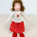 Waldorf Dollhouse Doll - Mother with Brown Hair