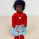 Waldorf Dollhouse Doll - Mother with Black Hair