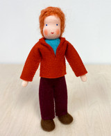 Waldorf Dollhouse Doll - Father with Red Hair