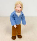 Waldorf Dollhouse Doll - Father with Blond Hair