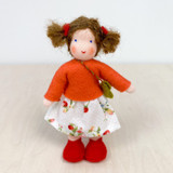 Waldorf Dollhouse Doll - Girl with Brown Hair