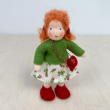 Waldorf Dollhouse Doll - Girl with Red Hair