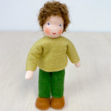 Waldorf Dollhouse Doll - Boy with Brown Hair
