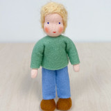 Waldorf Dollhouse Doll - Boy with Blond Hair