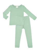 Kyte Baby Bamboo Long Sleeve Toddler Pajamas in Matcha