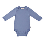 Kyte Baby Bamboo Bodysuit Long-Sleeve in Slate