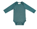 Kyte Baby Bamboo Bodysuit Long-Sleeve in Emerald