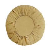 Round Linen Cushion - Light Tapenade (Light Olive)