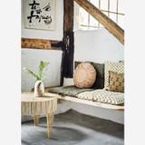Round Linen Cushion - Rose