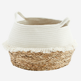 Cotton Rope Basket - White