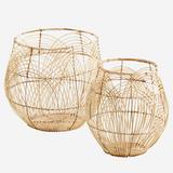 Round Rattan Basket - Tall