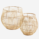 Round Rattan Basket - Tall