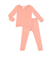 Kyte Baby Bamboo Long Sleeve Toddler Pajamas in Terracotta