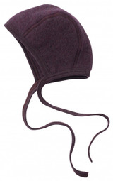 Engel Organic Merino Wool Fleece Baby Bonnet - Purple