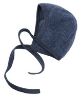 Engel Organic Merino Wool Fleece Baby Bonnet - Blue Melange