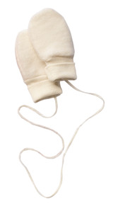Engel Organic Merino Wool Fleece Baby Mittens - Natural