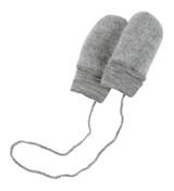 Engel Organic Merino Wool Fleece Baby Mittens - Grey Melange