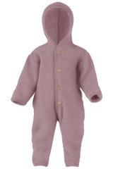 Engel Wool Fleece Hooded Overalls - Woodrose