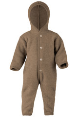 Engel Wool Fleece Hooded Overalls - Walnut