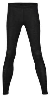 Engel Organic Merino Wool/Silk Women's Leggings - Black