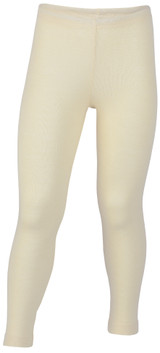 Engel Organic Merino Wool/Silk Kids Leggings - Natural