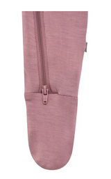 Kyte Baby Bamboo Zippered Footie in Mulberry