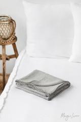 MagicLinen Queen Flat Sheet - Light Grey