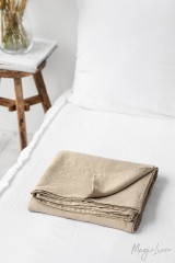 MagicLinen Queen Flat Sheet - Natural