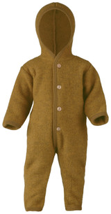 Engel Wool Fleece Hooded Overalls - Saffron